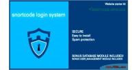 Login snortcode system