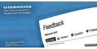 Modal usernoise form feedback contact