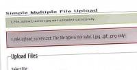 Multiple simple file upload