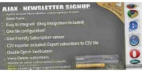 Newsletter signup with admin exporter csv & newsletter