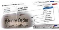 Order jquery form builder