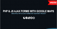 Php ajax contact form maps google with