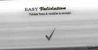 Php easyvalidation special class validation form