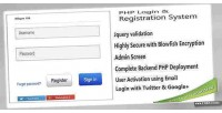 Php secure system registration login