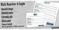 Register safe login panel admin with