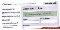 Responsive quform form contact ajax