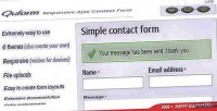 Responsive quform form contact ajax