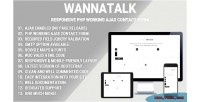 Responsive wannatalk php form working contact ajax