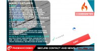 Secure codeigniter contact form newsletter and