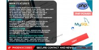 Secure php contact form newsletter and