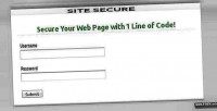 Secure site php utility protection page