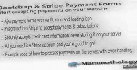 Stripe bootstrap payment forms