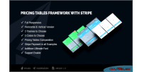 Tables pricing stripe with framework
