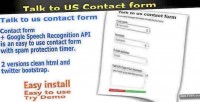 Talk to us contact recognition speech form