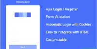 User ajax registration login & autologin cookie with