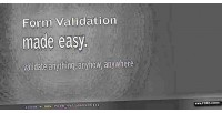 Validation form made easy