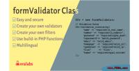 Validator form filter class