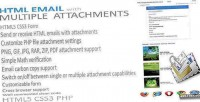 Email with multiple attachments php html5