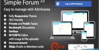 Forums simple board bulletin responsive