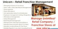 Franchise unicorn multi system management stores
