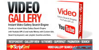 Gallery video search engine