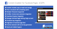 Grabber content for pages facebook the