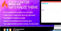 Grocery codeigniter theme materialize crud