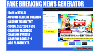 Breaking fake generator headline news
