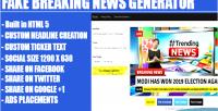 Breaking fake generator headline news