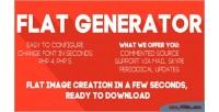 Design flat font generator