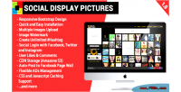 Display social pictures
