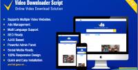 Downloader video script in all downloader video one