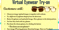 Eyewear virtual try on