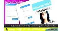 Id badge card generator