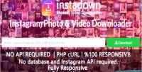 Instagram instadown downloader video photo