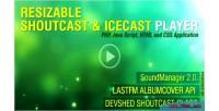 Javascript php shoutcast v3.0 icecast and