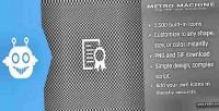 Machine metro icon generator