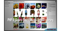 Mlib php jquery based library upload media