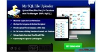 Mysql file & image uploader files server file without