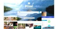 Photo pixel script sharing stock