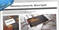 Php smartwatermark watermark script