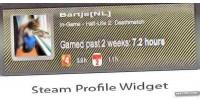Profile steam widget