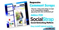 Scraps comment socialstrap for addon