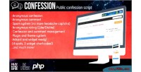 Script confession anonymous confessions