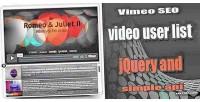 Seo vimeo jquery playlist video