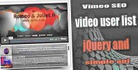 Seo vimeo jquery playlist video
