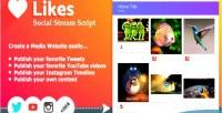 Social likes stream script