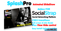 Splashpro full screen slider socialstrap for addon