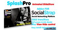 Splashpro full screen slider socialstrap for addon