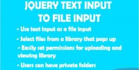Text jquery input input file to